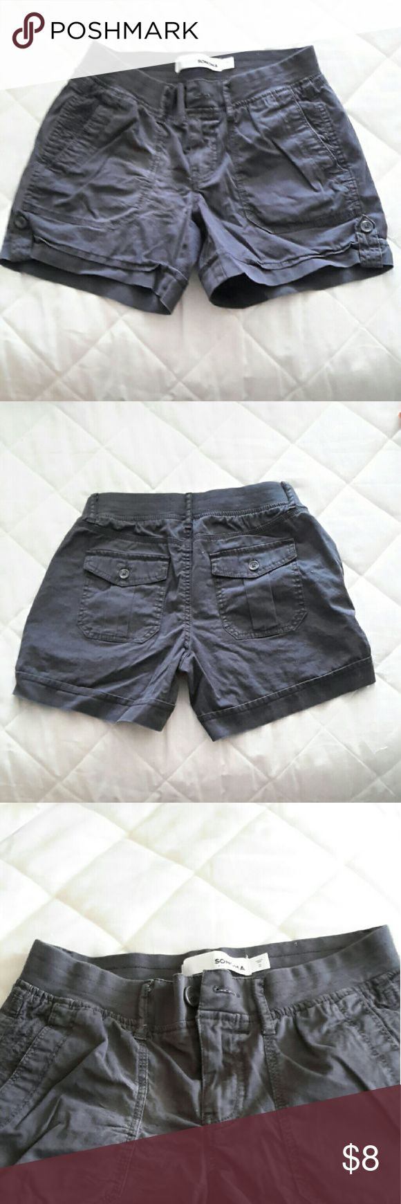 GRAY SHORTS Gray shorts with two front pockets and two button closure back pockets. Button and zipper front closure with soft wide elastic stretchy waistband. New without tags Also have another pair in white listed separately but will bundle if interested ?? Sonoma Shorts