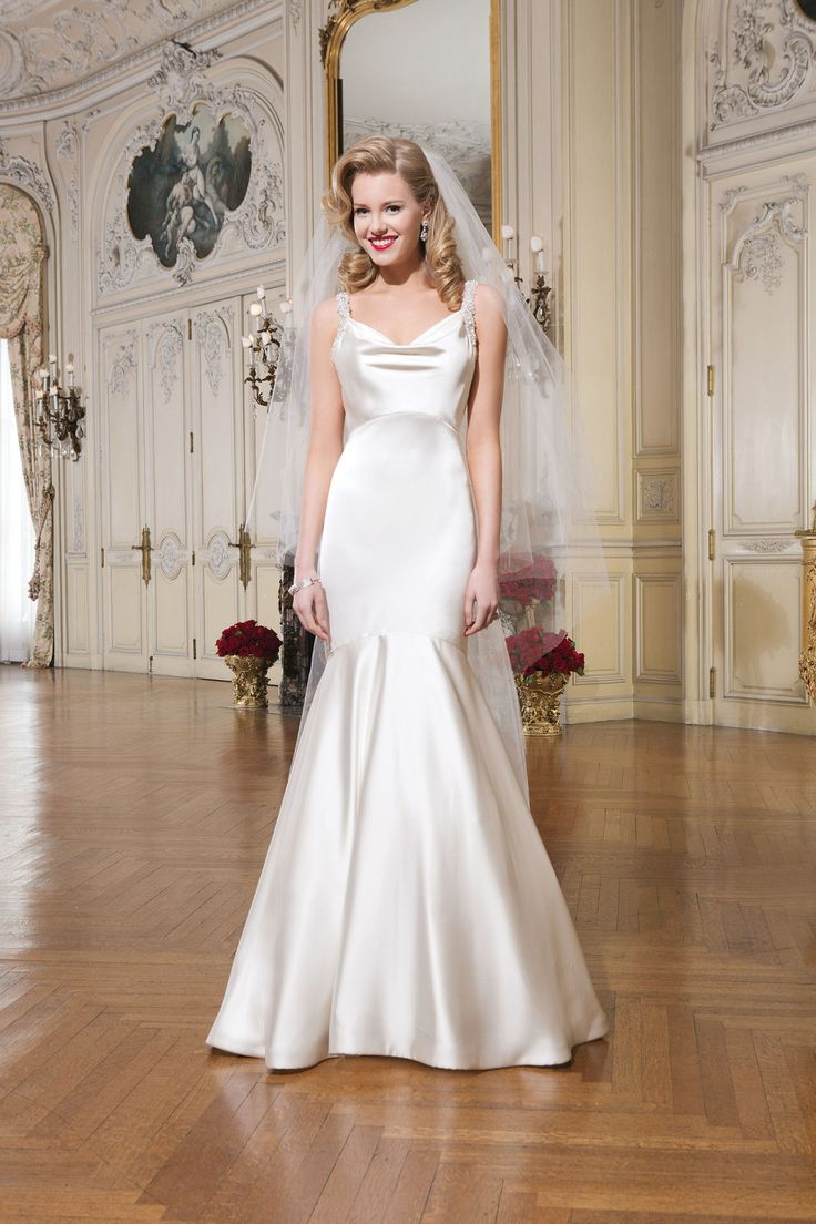 105 best wedding dresses shoes images on pinterest wedding old hollywood bridal style justin alexander wedding dresses style 8756 luxe charmeuse mermaid dress accentuated by a cowl neckline ombrellifo Choice Image