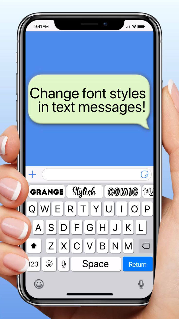 Change font styles in text and messages video in 2020