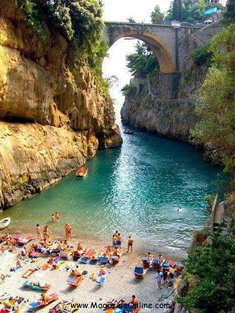 Italy, Beautiful Beach, Furore, Amalfi Coast