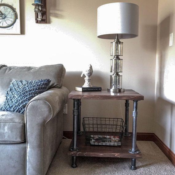 diy pvc pipe sofa kivik uk best 25+ industrial side table ideas on pinterest | black ...