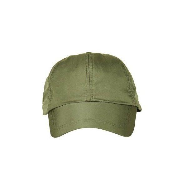 Topshop Nylon Cap (€11) ❤ liked on Polyvore featuring accessories, hats, khaki, khaki hat, topshop hats, cap hats, nylon hat and nylon cap