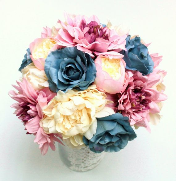 Love this bouquet and these colors!  wedding flower bridal bouquet wedding bouquet by greengreencloud, $62.00
