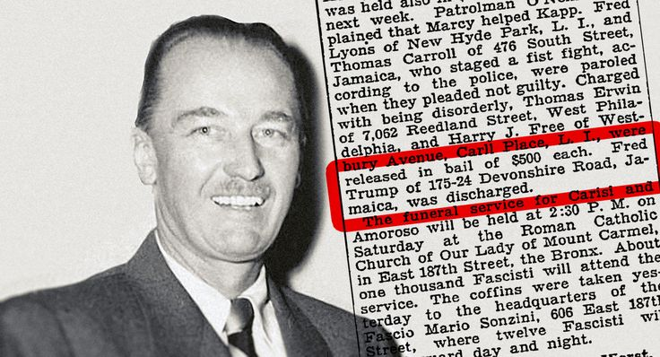 Does the apple fall too close to this tree?? According to a New York Times article published in June 1927, a man with the name and address of Donald Trump's father was arraigned after Klan members attacked cops in Queens, N.Y.