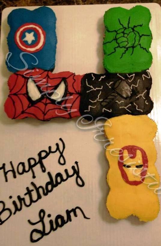 Buttercream pull apart avengers.....32 cupcakes                                                                                                                                                                                 More