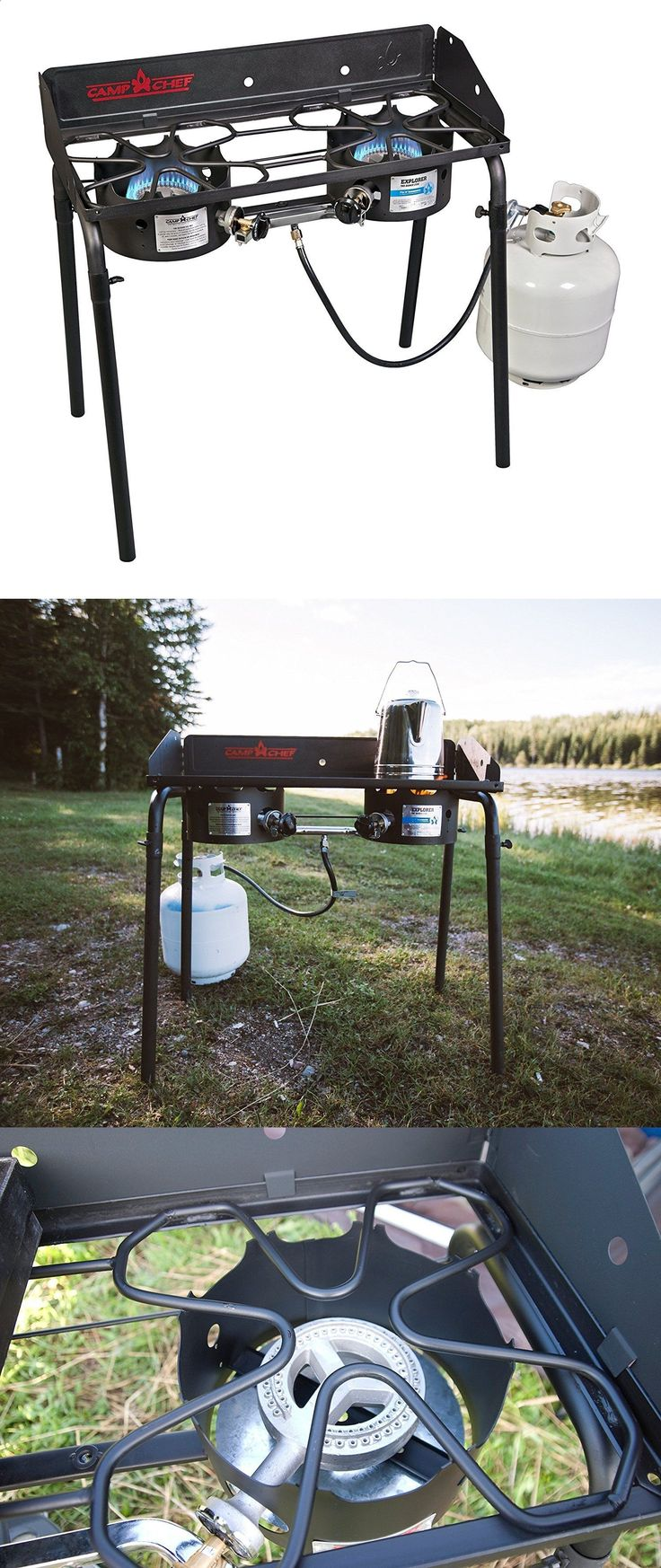 Camping Stoves 181386: Two Burner Propane Stove Portable Best Gas Range Propane Outdoor Camp Cooker -> BUY IT NOW ONLY: $154.99 on eBay!