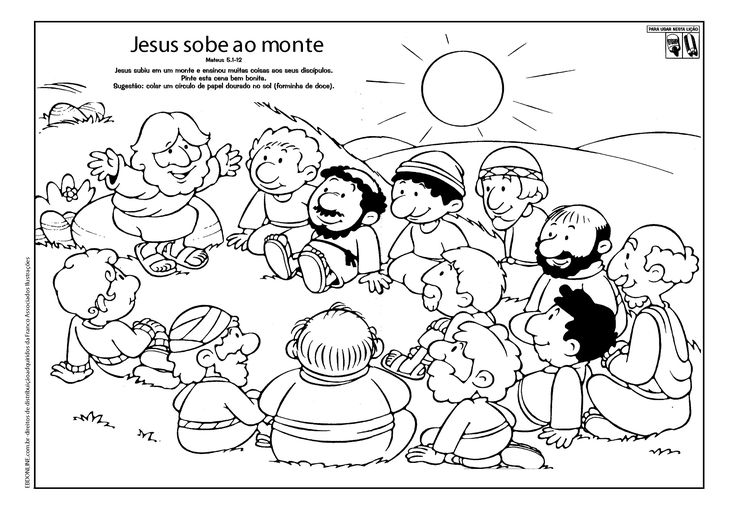 jesus and disciples coloring sheets