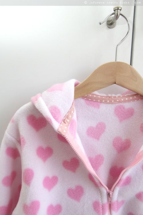 Fleece Jacket - free pattern, tutorial and how-to video from Japanese Sewing Books