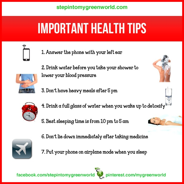 Importance And Tips: 17 Best Images About Health Chart Tips On Pinterest
