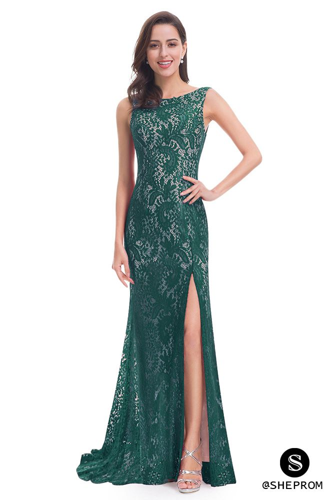 Only $56, Dark Green Full Lace Slit Mermaid Long Prom Dress #EP08859DG at #SheProm. SheProm is an online store with thousands of dresses, range from Prom,Formal,Evening,Green,Lace Dresses,Long Dresses and so on. Not only selling formal dresses, more and more trendy dress styles will be updated daily to our store. With low price and high quality guaranteed, you will definitely like shopping from us.