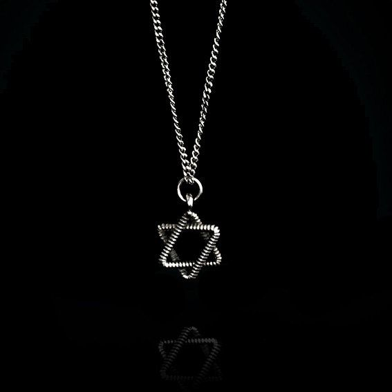 Star of David Necklace in 925 sterling Silver with Silver Chain, Unisex Judaica Jewelry, Magen David, Designer Handmade Necklace. on Etsy, 186.92₪