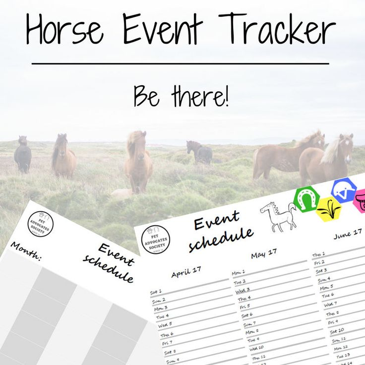 Horse Event Planner, Horse Diary, Horse Show Planner, Horse Event Schedule, Horse Competition Schedule by PetAdvocatesSociety on Etsy