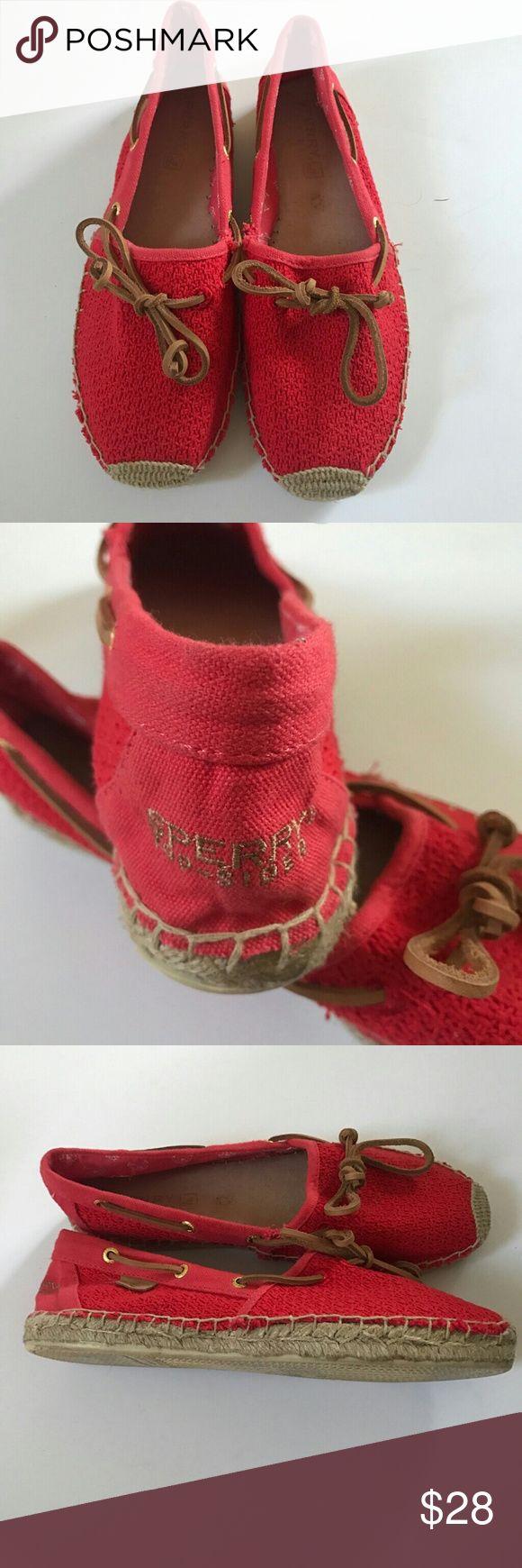 🐰🎉Sale 🐰🎉Sperry Katama Cotton Mesh Boat Shoes Sperry Women's Katama Open Cotton Mesh Boat Shoes Sperry Top-Sider Shoes Espadrilles