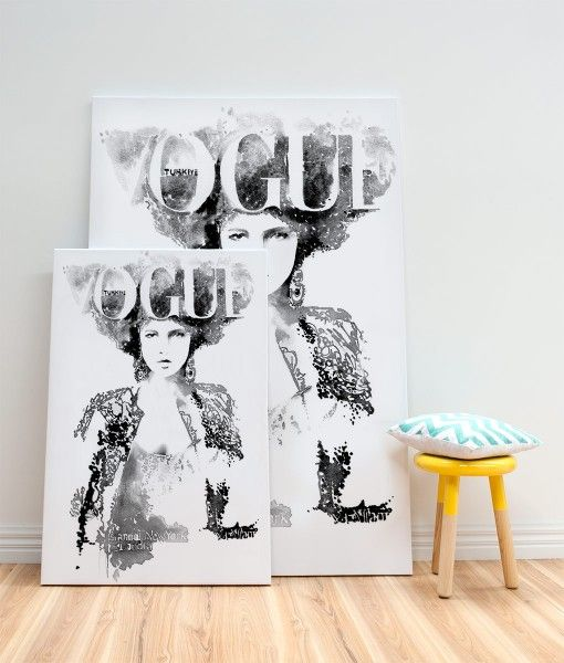 Vogue Cover Turkey Canvas Art Print- by Catherine Parr sold by Home @ Abode