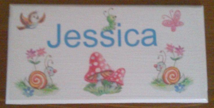 Personalised bedroon door plaques. £6.10.