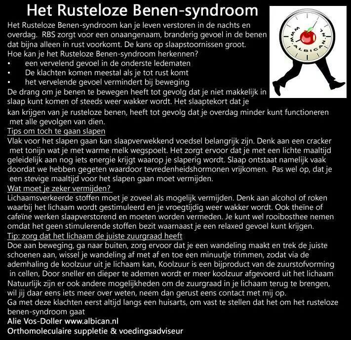 Rusteloze benen-syndroom