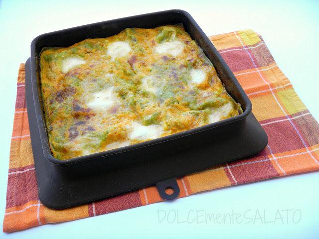Lasagne verdi di sfoglia fresca con crema di zucca