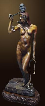 """Releasing the Passion"" by Renzo Bronze Sculpture Edition Size: 55 SN Size: 31""h x 14""w x 14""d"