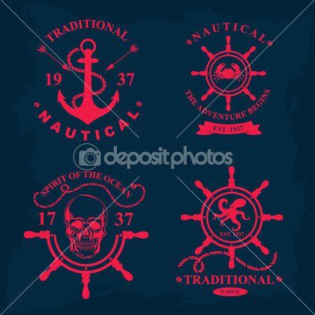 Морской знак морской дизайн — стоковая иллюстрация #51995093