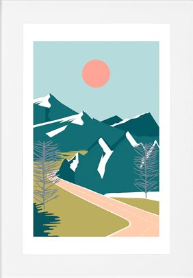 Highway Landscape, Framed Print from Made.com. Multi-Coloured. Express delivery. For those with a sense of adventure, this framed Highway print will..