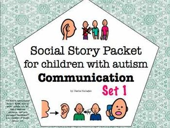 Visual Social Story Packet for Children with Autism: Communication Set 1{a collection of 4 social stories about common problems related to communication and social skills} by theautismhelper.com