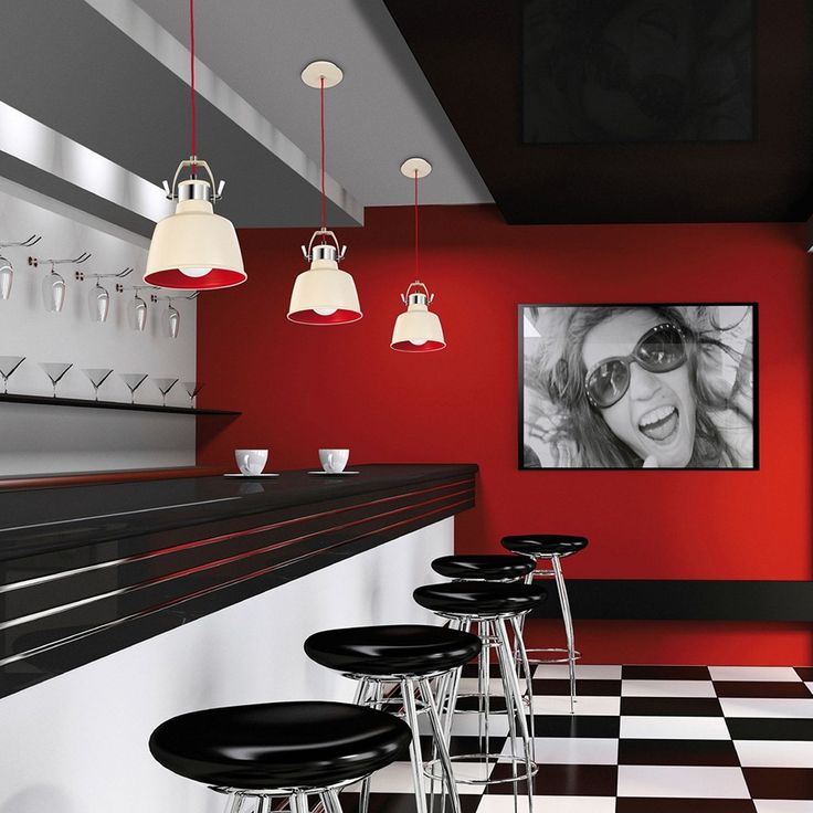 Awesome diner pendants in Hot Rod colours!