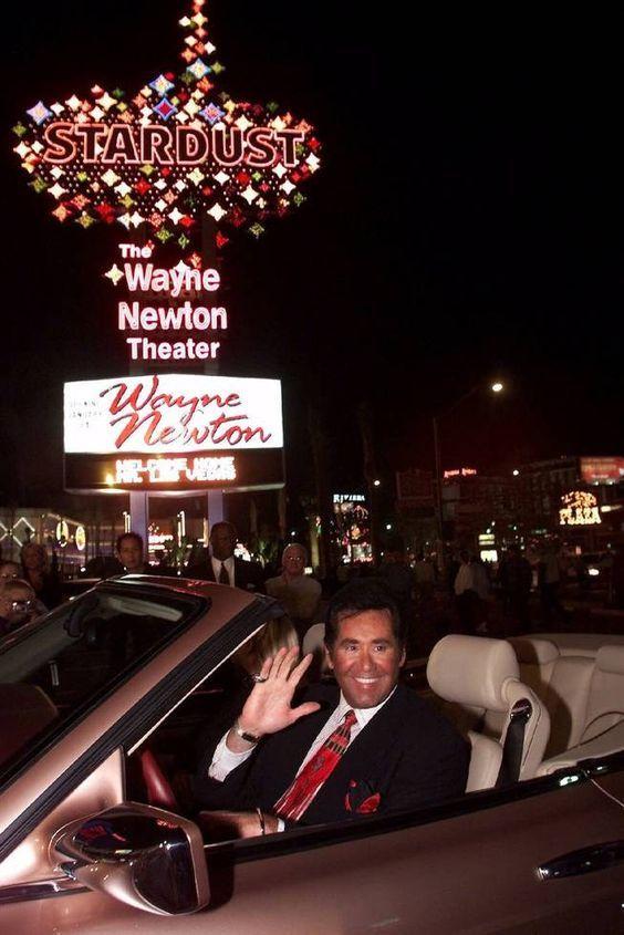 wayne newton las vegas | Wayne Newton beneath the Stardust marquee. I saw this show with my ...