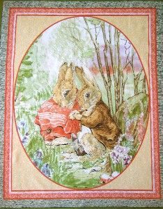 Beatrix Potter Fabric for Sale | Details about Beatrix Potter Fabric Panel - Quilting/Sewin g Baby Cot