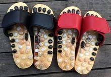 Natural Pebble Massage Slipper Foot Reflexology Massage Shoes Foot Massager Foot Health Care //Price: $US $19.60 & FREE Shipping //