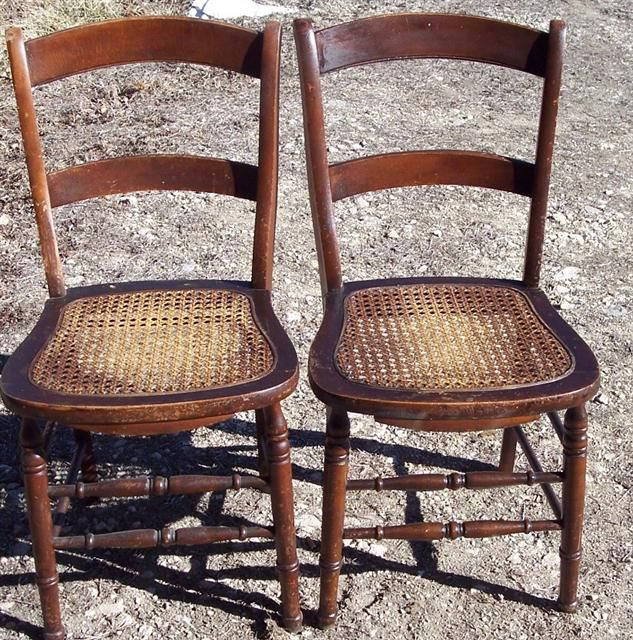 High Quality Antique Cane Seat Chairs