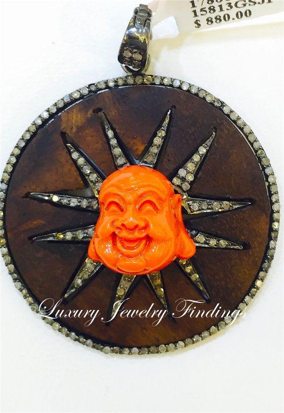 Buddha Jewelry Wood and Diamond  Buddha by LuxuryJewelryFinding