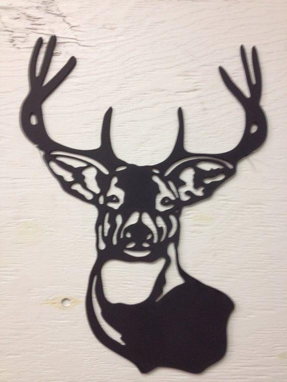 Buck, hert silhouet  ~ Meet 15 x 11 ~ Painted Black & clear gecoat ~ Groot binnen of buiten ~ Perfect voor rustiek decor of de jagers cabine  Elk van de items die u in mijn winkel ziet zijn plasma snijden van 18 ga staal, voor u, op het tijdstip van uw bestelling. Als je van wat je ziet, maar willen een andere afwerking of grootte please convo me en ik krijg je een offerte meteen!  Omdat silhouetten/tekenen veelzijdig in hun gebruik zijn, worden niet gaten voor opknoping toegevoegd, tenzij…