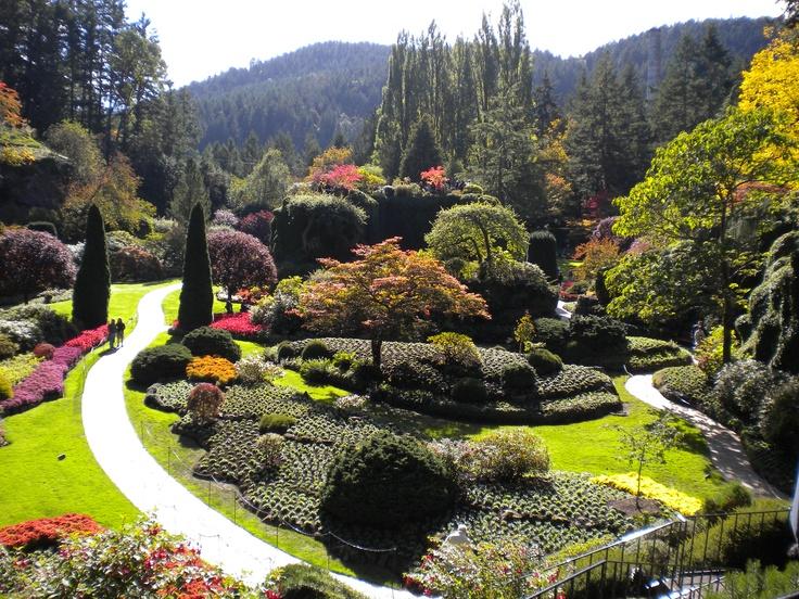The Sunken Garden, Butchart Gardens, Victoria, British Columbia #CDNGetaway