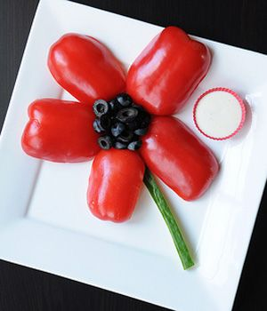 Healthy Snack Idea: A Poppy for Remembrance Day