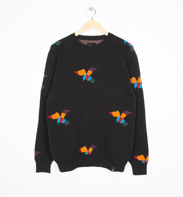 knitted pullover birds | by Parra