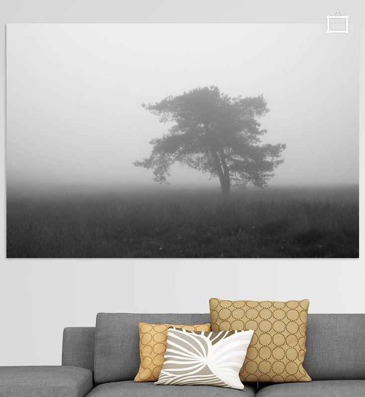Nieuw in mijn Werk aan de Muur shop: Eenzame boom in de mist