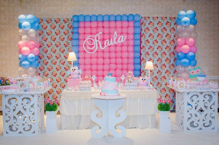 Vintage Shabby Chic Owl Birthday Party Ideas | Photo 28 of 44
