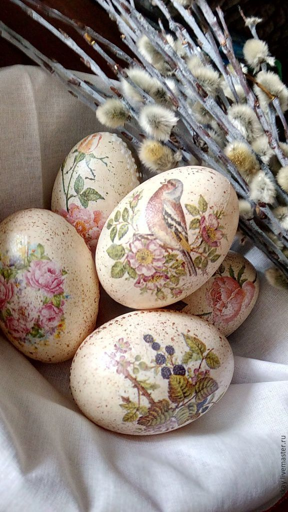 Купить Набор пасхальных яиц. - бежевый, Пасха, пасхальное яйцо, подарок на Пасху, пластмассовые заготовки