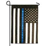 Thin Blue Line Police US Garden Flag