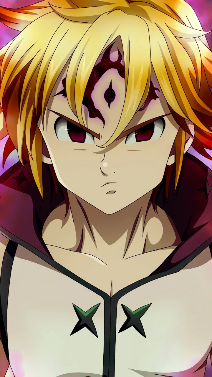 Angry, anime boy, Meliodas, 720x1280 wallpaper Seven