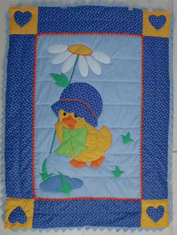 Handmade Baby Quilts, Little Yellow Duck