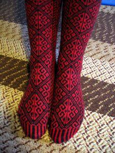beautiful knit socks