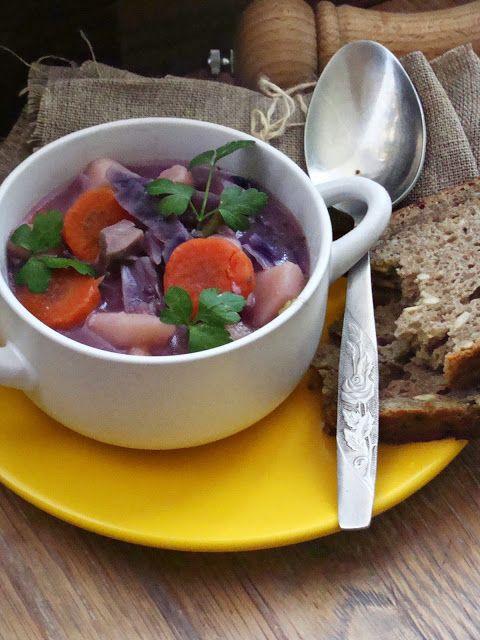 Izioni pyszne smaki: Zupa z czerwonej kapusty