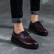 {D & H} Bullock Sapatos de Vinho Tinto Do Vintage Sapatos Oxford Para As Mulheres Handmade Preto trepadeiras sapatos de plataforma Casuais mulher Sapato Feminino(China (Mainland))