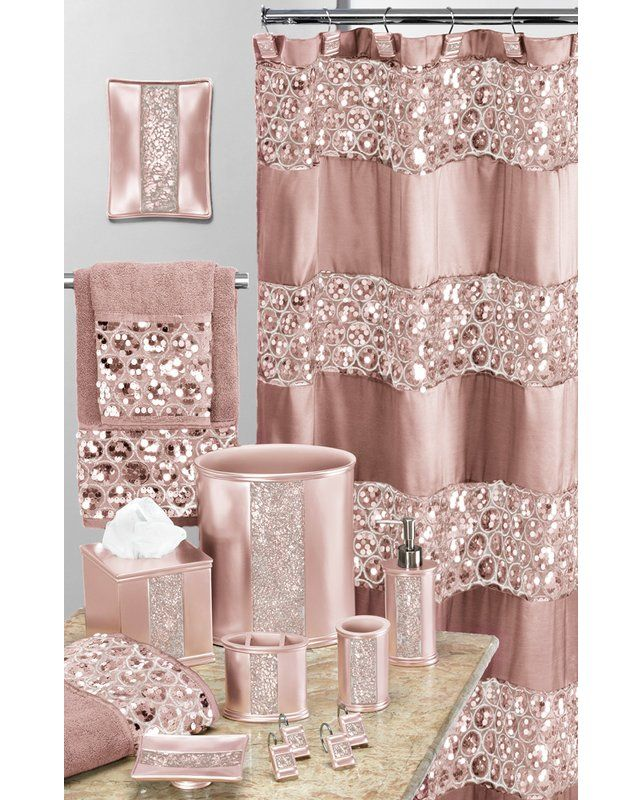 Irie Striped Single Shower Curtain Pink Bathroom Decor Pink