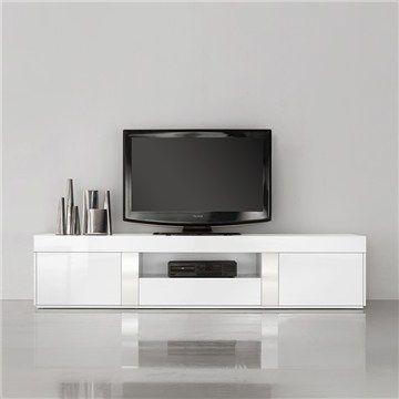 Casa High Gloss White TV Unit - 200cm