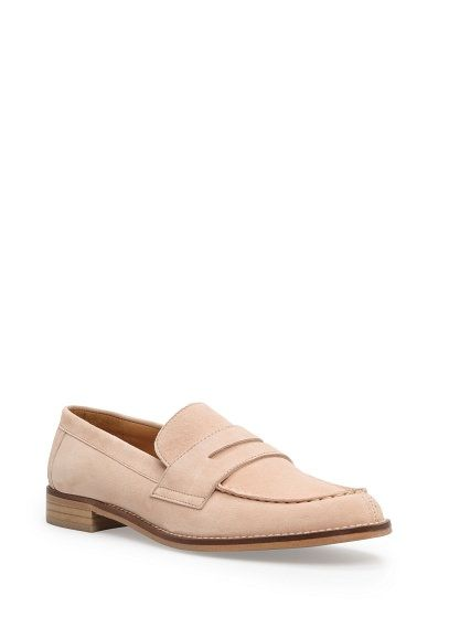 Natural pink loafer from Mango