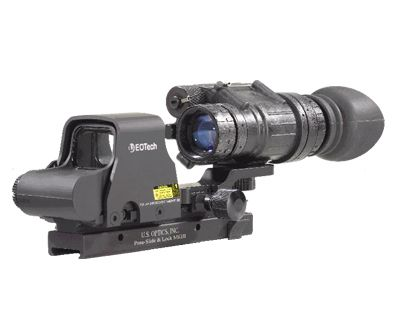 EOTech and PVS-14 night vision.  How I would mount night vision and a eotech sight