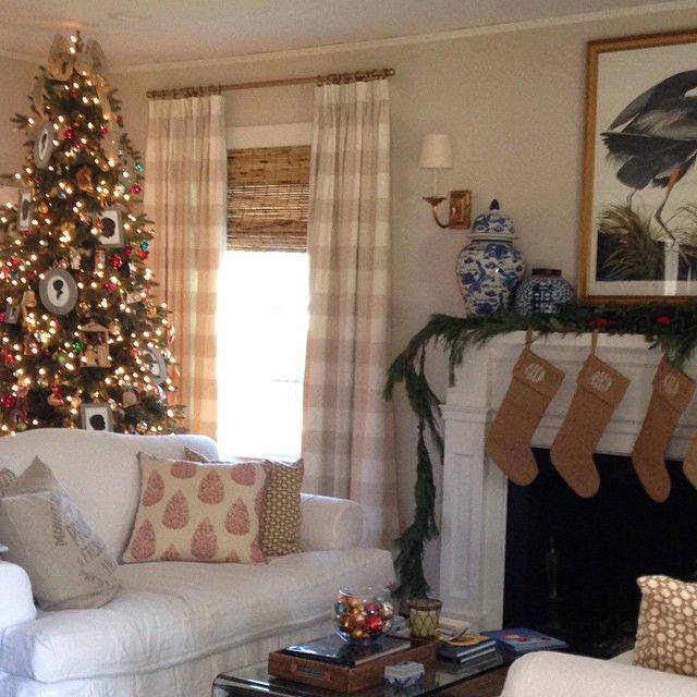 Holly Mathis Pretty Living Room At Christmas