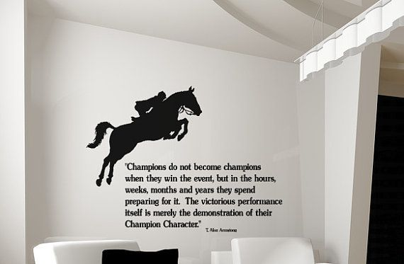 Wall Art Horse Decals : Horse decal quote wall sticker words girls